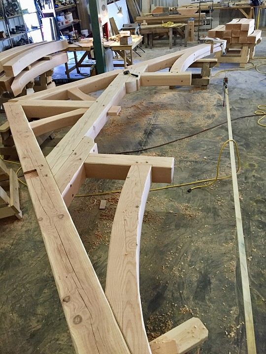 In Shop: Final Assembly For Great Room Truss