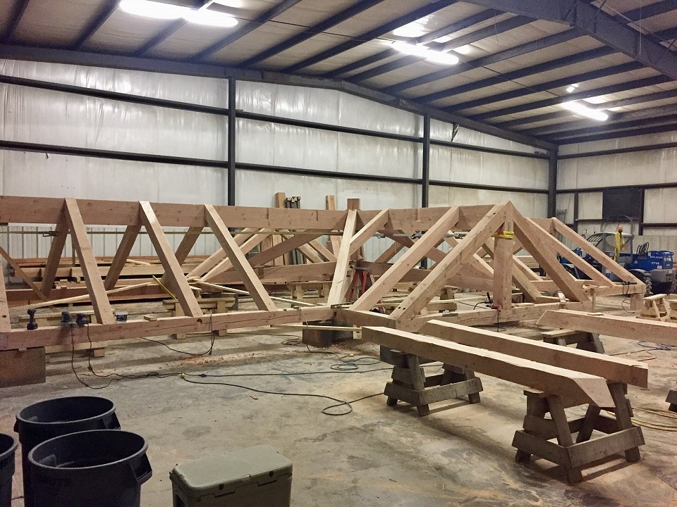 In Shop: Roof Being Fabricated