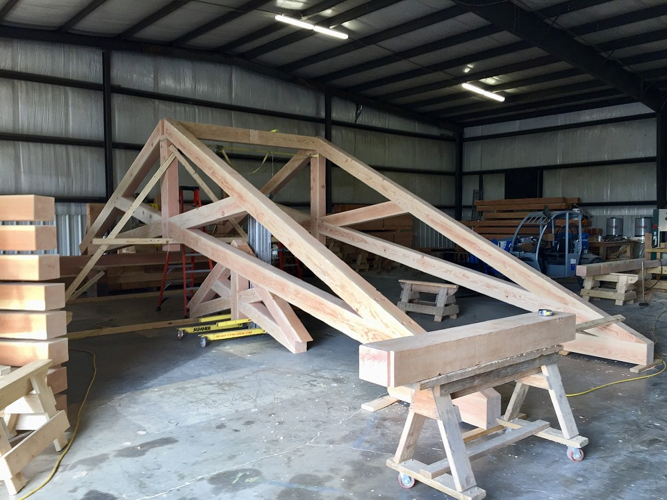 In Shop: Kitchen Trusses