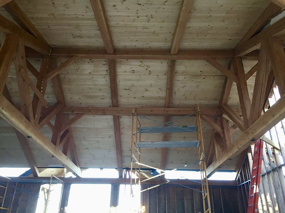 Under Construction: 36' Garage Trusses With Purlins And Rafters