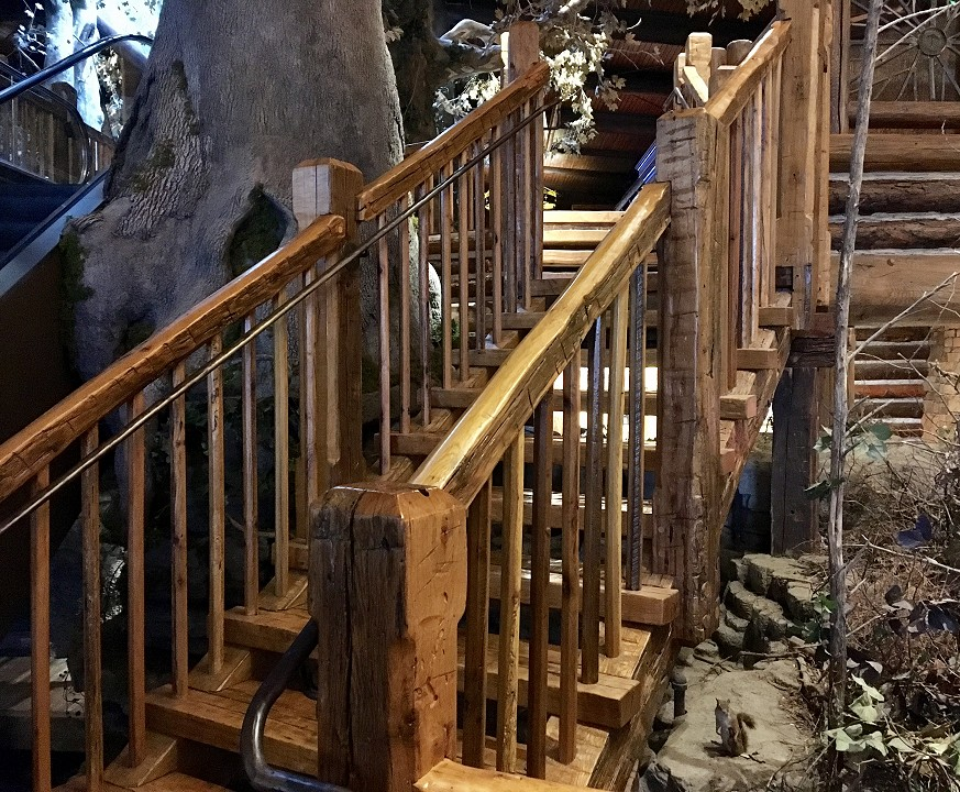 Reclaimed Barn Timber Frame Staircase System