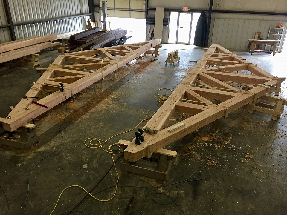 In Shop: Final Assembly For Garage Trusses