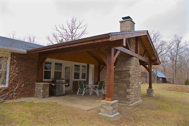 Panther Creek Timber Frames Covered Timber Frame Porch