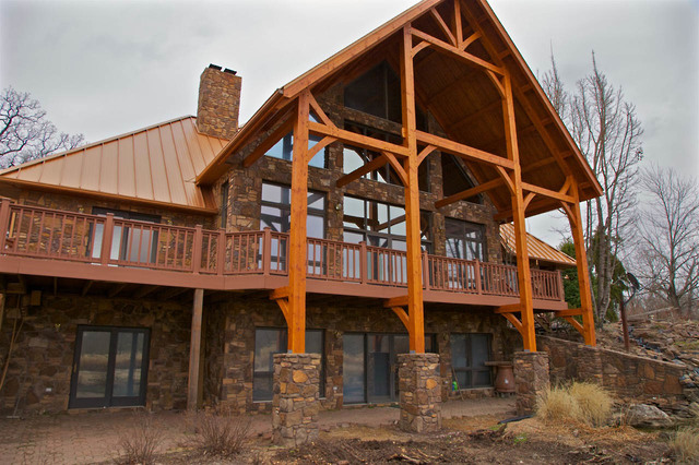 Douglas Fir Covered Timber Frame Porch