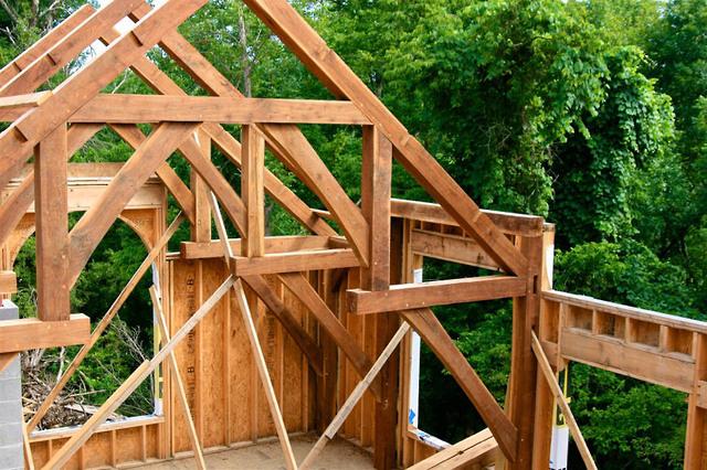 Panther Creek Timber Frames | Walnut Timber Frame Residence