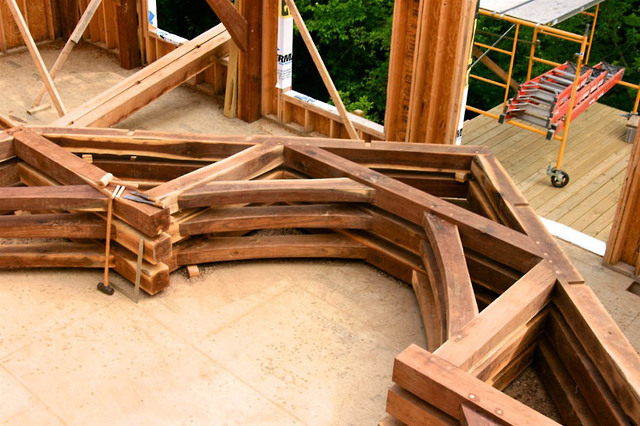 Under Construction: Hammer Beam Truss Bents Ready To Be Raised